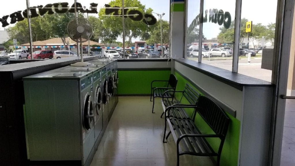 Nice New Interior of Sunset Pointe Laundromat in Clearwater, FL