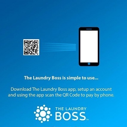 Scan the QR Code on your Phone at Sunset Pointe Laundromats and Pay
